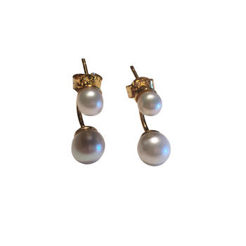 Pearl Earrings Gold Drop Pearl Earrings Gift For Her