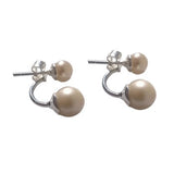 Silver Pearl Earrings Pearl Cuff Earrings Gift For Her