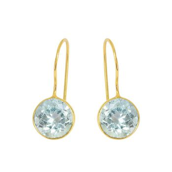 Blue Topaz Earrings Gift For Her