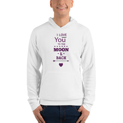 I love you to the Moon! Unisex hoodie for Men