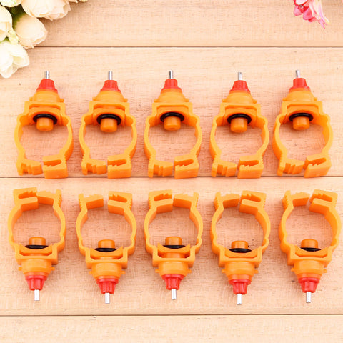 10Pcs/lot Chicken Nipple Drinking Feeder Automatic Poultry Spring Water Nipples for Chicken Duck Hen Drinker Water Feeder