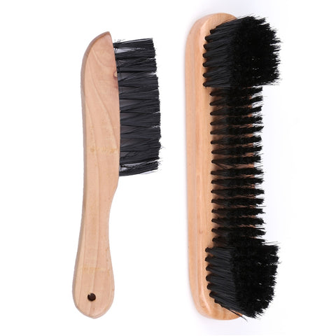 New One Pair Rail & Felt Brush Cleaner Billiard Snooker Pool Table Wooden Tool Soft Hair Brush Set Billiard Accessories