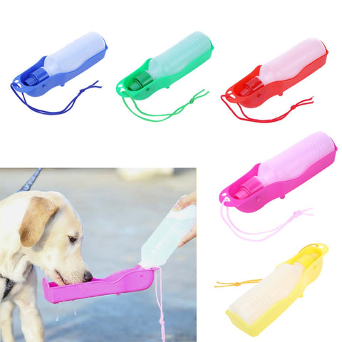 250ML Foldable Dog Outdoor Drinking Water Bottles Handheld Squeeze Water Dispenser for Dog Pets Travel Feeding Pet Products