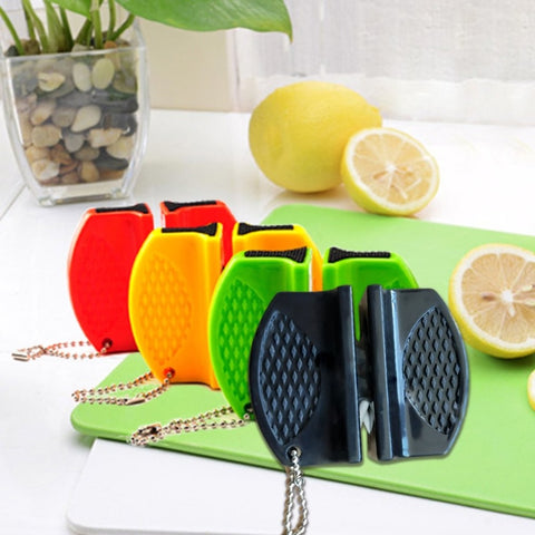 Creative Mini Pocket Knife Sharpener Non-Slip Ceramic Rod Tungsten Steel Camp Kitchen Knife Sharpener Quick Sharpening Tool