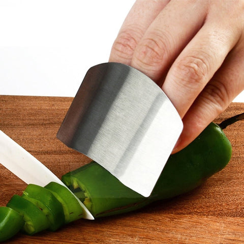 Finger Guard Protection Finger Chop Safe Slice Stainless Steel Kitchen Hand Protector Knife Finger Protection Tools Dropshipping