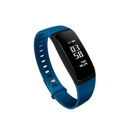 V07S Bluetooth Smartwatch Fitness Tracker Watch IP67 Waterproof Sleep Monitor Smart Bracelet with Intelligents Heart Rate Blood Pressure Monitor(Blue)
