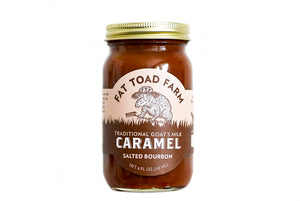 jar of caramel with toad image and brown label