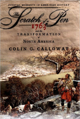 Book cover with wintery image of a Native American and title