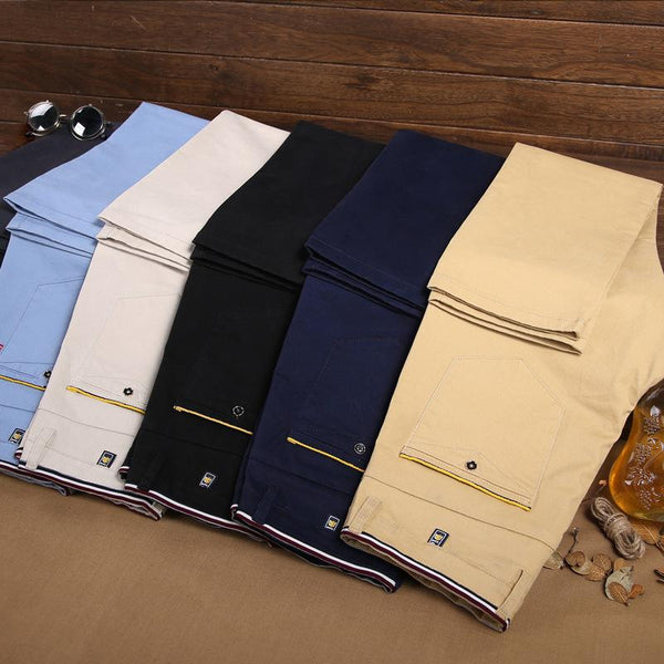 New Design Cotton Slim Business Pants