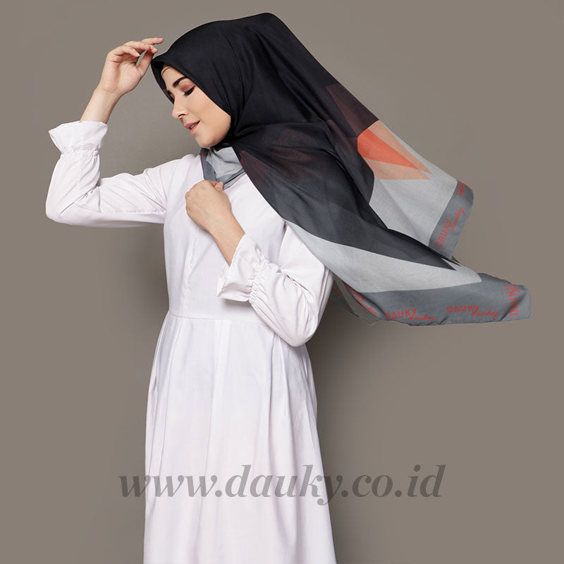 SHAKIR SCARF BLACK GRAY