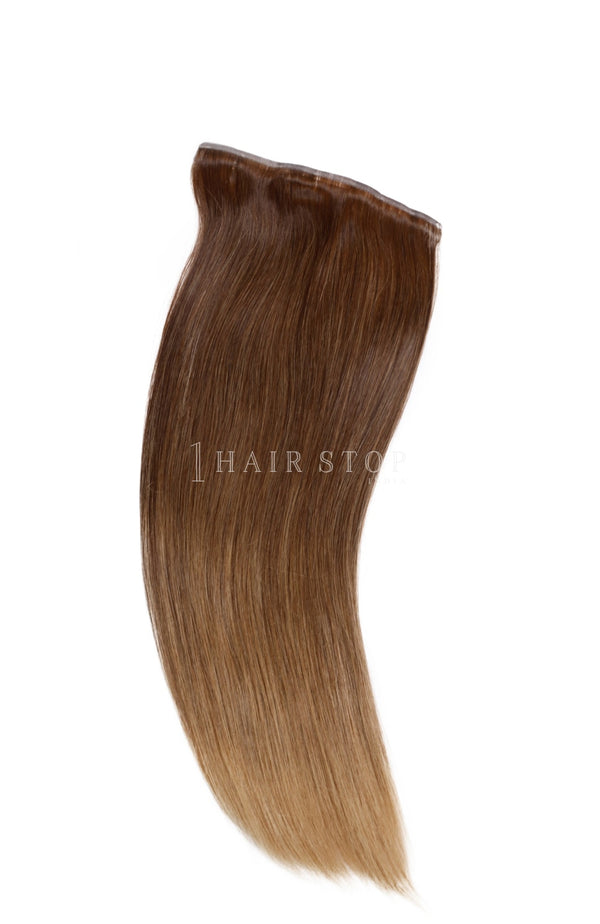 Invisi Clip-In Extensions Straight Ombré Chestnut (4/18) Clip-In