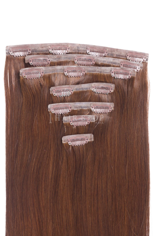 Invisi Clip-In Extensions Straight Golden Brown Clip-In