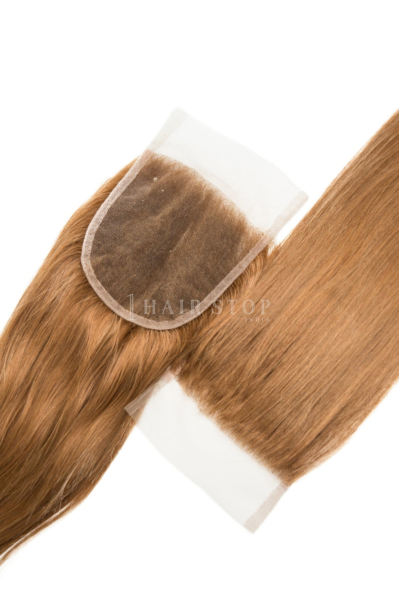 Lace Closures in Brown