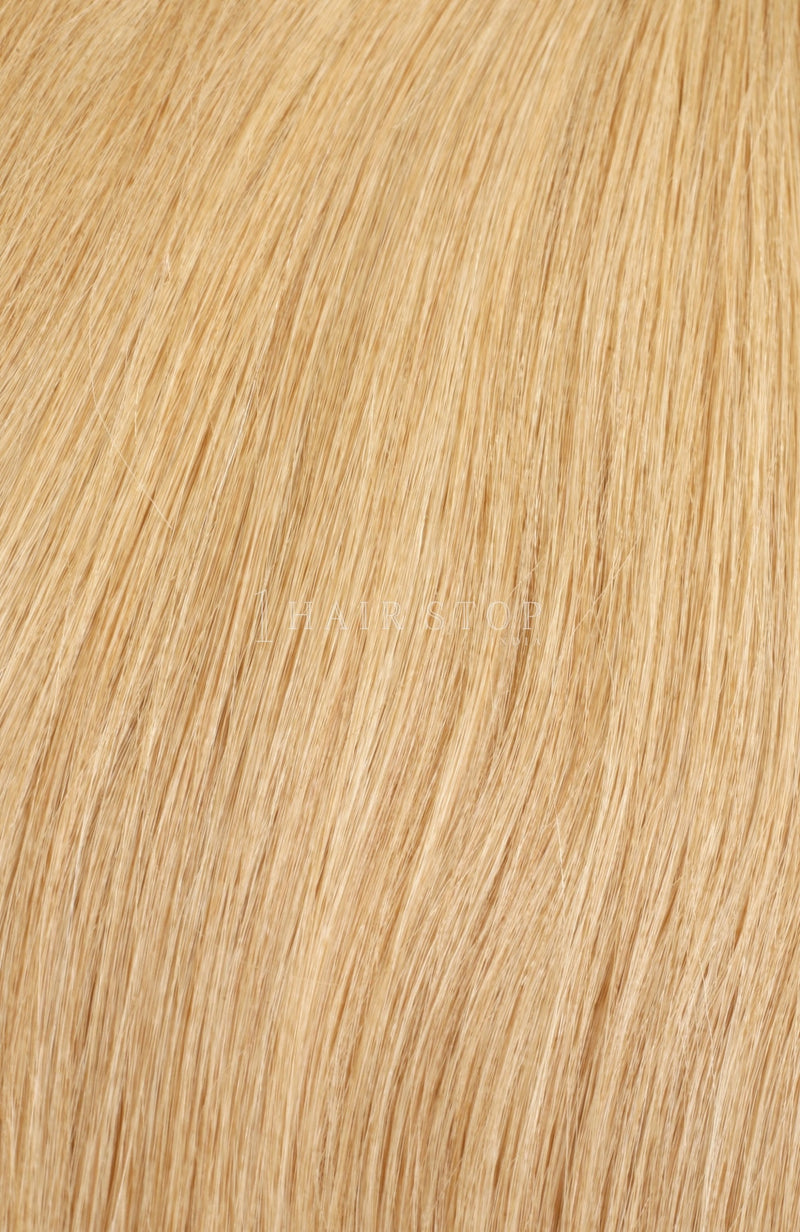 Sandy Blonde Human Hair Tape in extensions