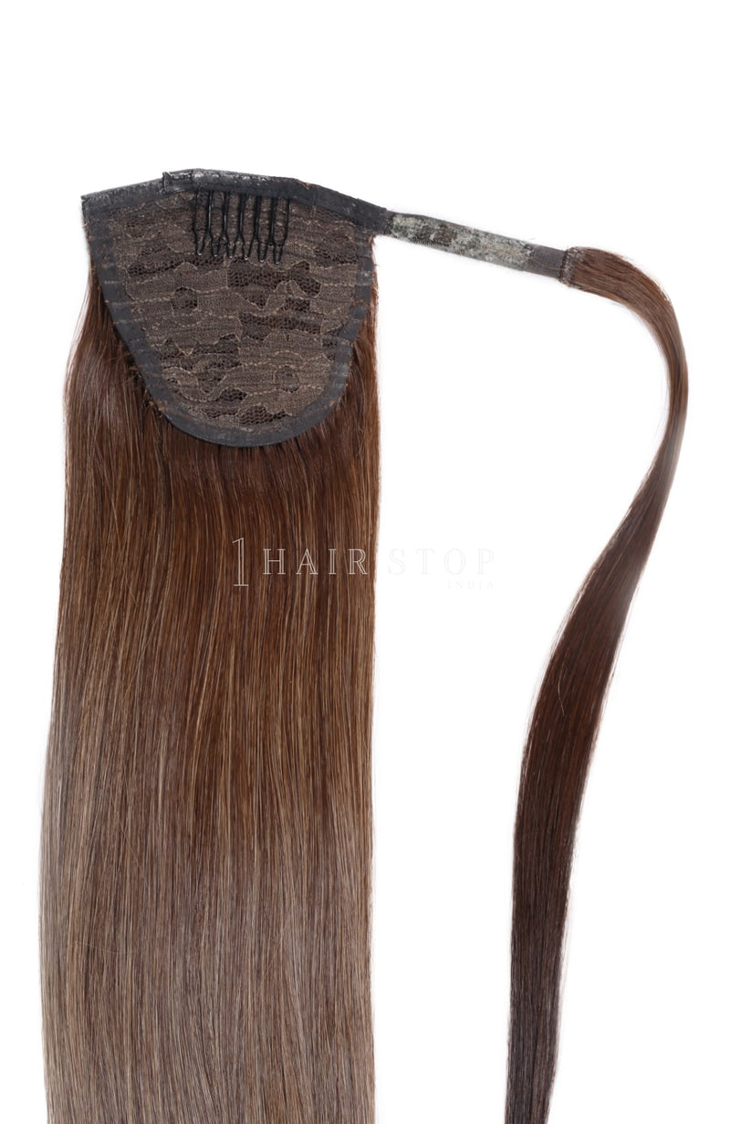 Wrap Ponytail Extensions Straight Ombre 4/27