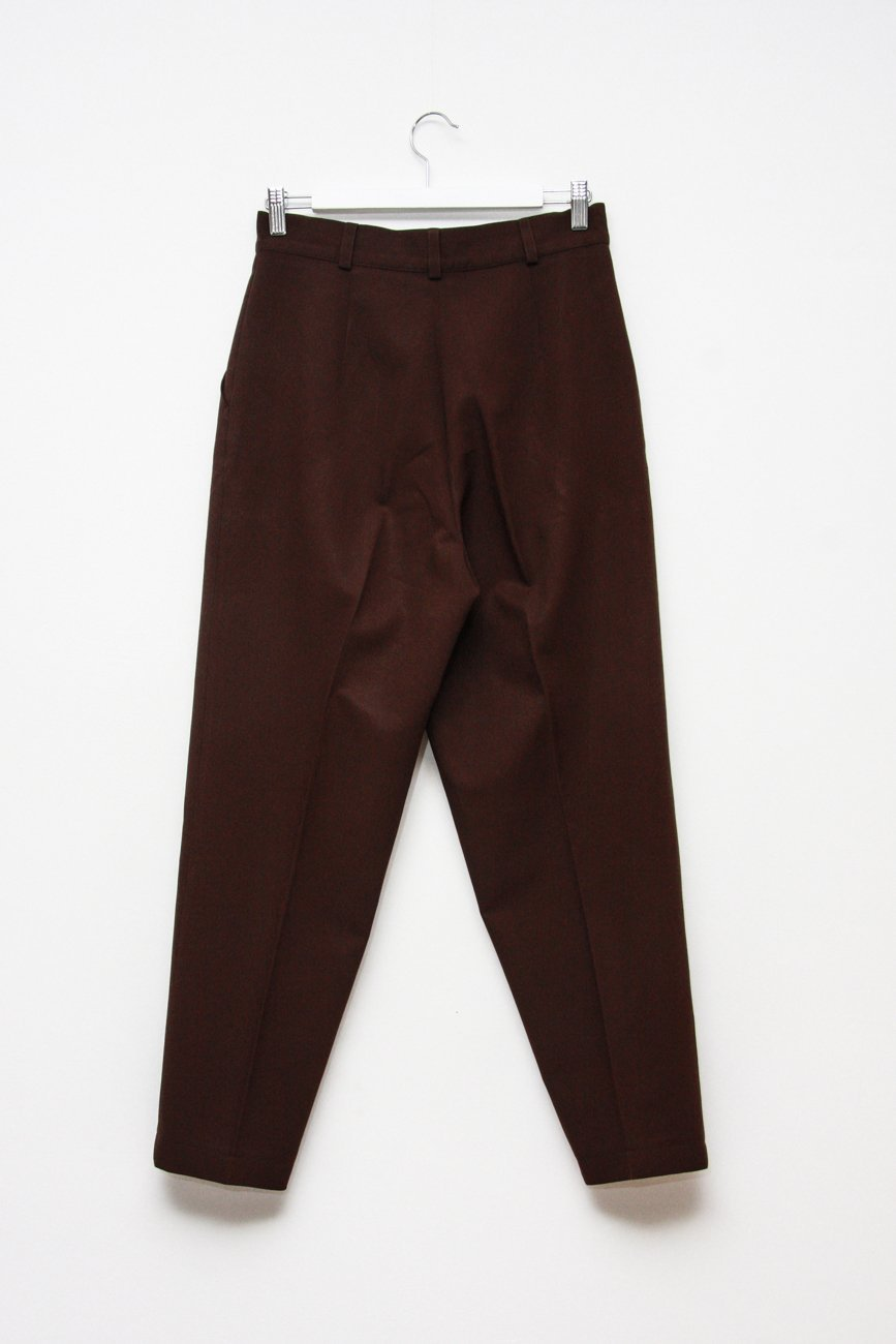 0676_VINTAGE BROWN HIGH WAISTED TROUSERS