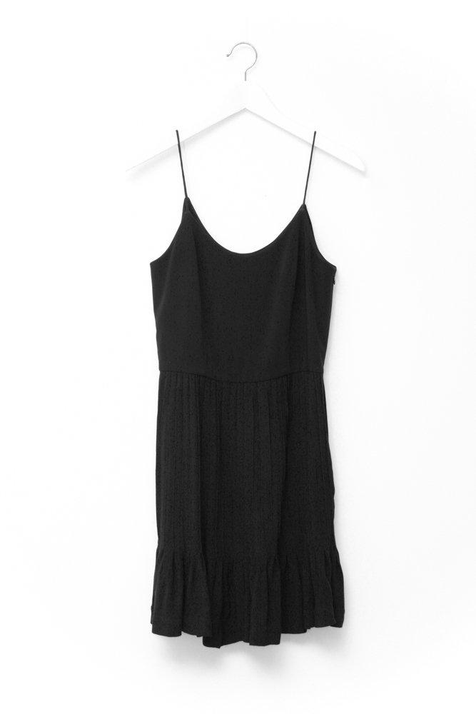0703_& OTHER STORIES BLACK PLEATED DRESS