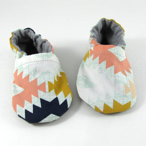 Pink Aztec Baby Shoes
