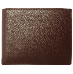 10 CC Grained Calf Leather Billfold Brown - MEN - ACCESSORIES - WALLETS & SMALL GOODS - Mates In Style Fashion