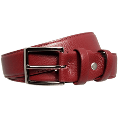 34mm Duo Ply Calf Leather Belt Rosewood | Buy MEN - ACCESSORIES - BELTS Products Online With the Best Deals at Anbmart.com.au!