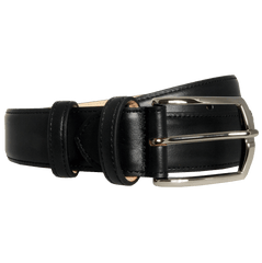 35 Mm Sartorial Buffed Leather Belt Black | Buy MEN - ACCESSORIES - BELTS Products Online With the Best Deals at Anbmart.com.au!