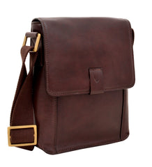 Aiden Small Leather Messenger Cross Body Bag | Buy MEN - BAGS - CROSSBODY Products Online With the Best Deals at Anbmart.com.au!