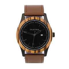 Inverness | Zebrawood | Brown Leather - MEN - ACCESSORIES - WATCHES - Mates In Style Fashion