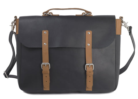 Black/Tan Brief - MEN - BAGS - BRIEFCASES - Mates In Style Fashion