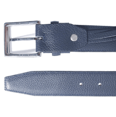 34mm Duo Ply Calf Leather Belt Blue | Buy MEN - ACCESSORIES - BELTS Products Online With the Best Deals at Anbmart.com.au!