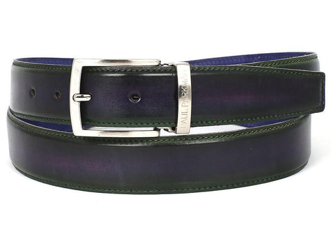 PAUL PARKMAN Men's Leather Belt Dual Tone Green & Purple (ID#B01-GRN-PURP) - MEN - ACCESSORIES - BELTS - Mates In Style Fashion