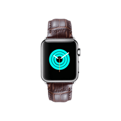 MINTAPPLE Alligator Leather Apple Watch Strap - Dark Brown - MEN - ACCESSORIES - WATCHES - Mates In Style Fashion
