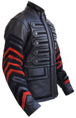 Black Military Men Leather Jacket - MEN - APPAREL - OUTERWEAR - JACKETS - Mates In Style Fashion