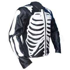 Black Skeleton Biker Leather Jacket | Buy MEN - APPAREL - OUTERWEAR - JACKETS Products Online With the Best Deals at Anbmart.com.au!