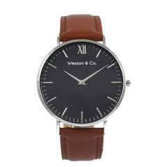 Silver Black / Brown | Buy MEN - ACCESSORIES - WATCHES Products Online With the Best Deals at Anbmart.com.au!