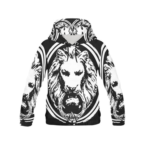 Mens Lion All Over Hoodie - MEN - APPAREL - SWEATERS - PULL OVER - Mates In Style Fashion