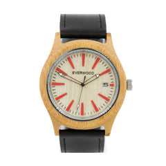 Kylemore | Bamboo Black Leather - MEN - ACCESSORIES - WATCHES - Mates In Style Fashion