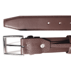 34mm Duo Ply Calf Leather Belt Brown | Buy MEN - ACCESSORIES - BELTS Products Online With the Best Deals at Anbmart.com.au!