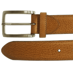34 Mm Antiquated Cowhide Belt Ochre | Buy MEN - ACCESSORIES - BELTS Products Online With the Best Deals at Anbmart.com.au!
