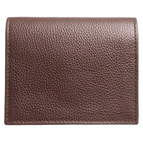 Grained Calf Leather Card Wallet Brown - MEN - ACCESSORIES - WALLETS & SMALL GOODS - Mates In Style Fashion