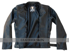 Black Belted Brando Biker Leather Jacket | Buy MEN - APPAREL - OUTERWEAR - JACKETS Products Online With the Best Deals at Anbmart.com.au!