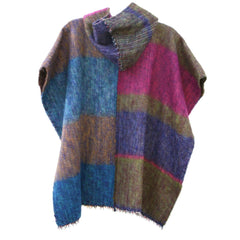 100% Alpaca Poncho In Multi - MEN - APPAREL - OUTERWEAR - JACKETS - Mates In Style Fashion