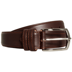 35 Mm Sartorial Buffed Leather Belt Brown | Buy MEN - ACCESSORIES - BELTS Products Online With the Best Deals at Anbmart.com.au!