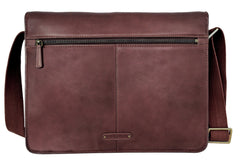 Aiden Leather Business Laptop Messenger Cross Body Bag - MEN - BAGS - CROSSBODY - Mates In Style Fashion