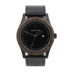Inverness | Walnut | Black Leather - MEN - ACCESSORIES - WATCHES - Mates In Style Fashion