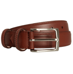 30 Mm Sartorial Fine Grain Leather Belt Brown | Buy MEN - ACCESSORIES - BELTS Products Online With the Best Deals at Anbmart.com.au!