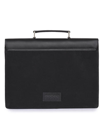 Phive Rivers Men's Leather And Canvas Black Laptop Bag - MEN - BAGS - CROSSBODY - Mates In Style Fashion