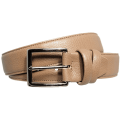34mm Duo Ply Calf Leather Belt Taupe | Buy MEN - ACCESSORIES - BELTS Products Online With the Best Deals at Anbmart.com.au!