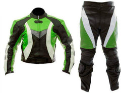 Green White Black Biker Leather Suit | Buy MEN - APPAREL - OUTERWEAR - JACKETS Products Online With the Best Deals at Anbmart.com.au!