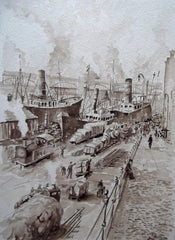 Newcastle Quayside Circa 1900 before the building of the Tyne Bridge