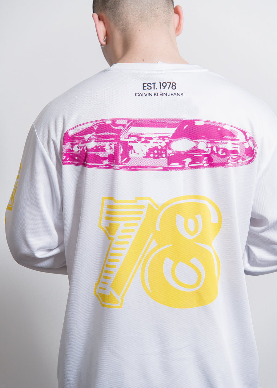 L/S Modernist Graphic Tee White